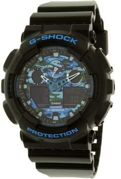 Casio G-Shock Black and Blue Ana-Digi Sports Watch GA100CB-1A