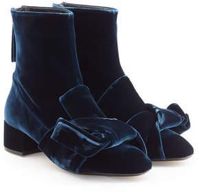 N°21 N21 Velvet Knot Ankle Boots