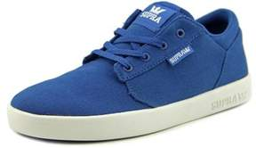 Supra Yorek Low Youth Round Toe Canvas Blue Tennis Shoe.