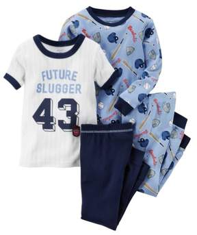 Carter's Baby Clothing Outfit Boys 4-Piece Snug Fit Cotton Baseball PJs Future Slugger