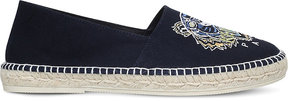 Kenzo Tiger head embroidered canvas espadrilles