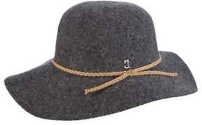 Scala Round Crown Wool Cartwheel Hat