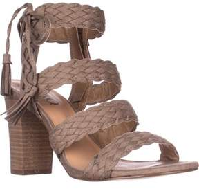 XOXO Binnie Heeled Strappy Sandals, Taupe.