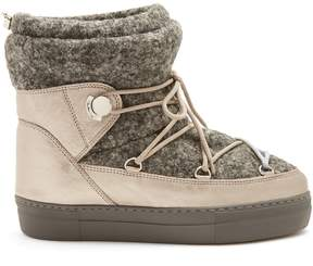 Moncler Ynnaf felt and leather après-ski boots