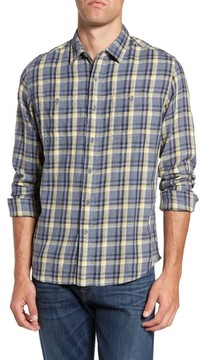 Grayers Men's Tetworth Modern Fit Slubbed Plaid Sport Shirt