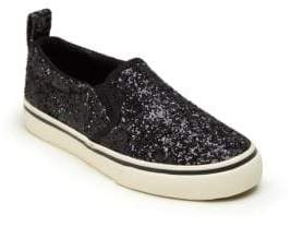 Ralph Lauren Kid's Carlee Twin Glitter Slip-On Sneakers