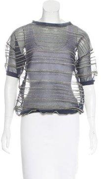 Brunello Cucinelli Striped Knit Sweater
