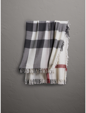 Burberry Check Wool Square - Large