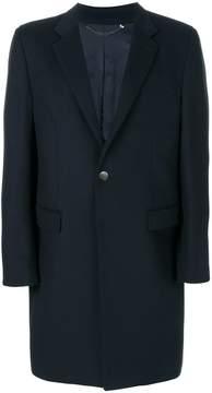 Billionaire logo embossed button coat