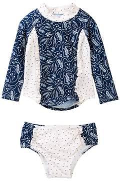 Jessica Simpson Rashguard Swimsuit (Baby Girls)