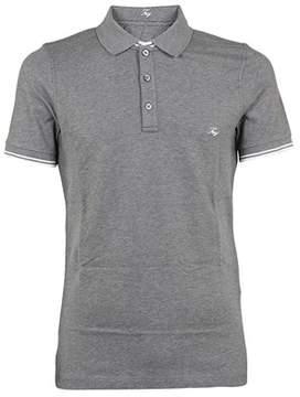 Fay Men's Npmb236134sit0b202 Grey Cotton Polo Shirt.