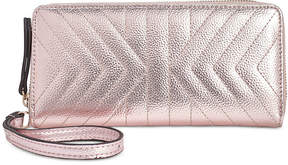 INC International Concepts I.n.c. Glam Metallic Quilted Zip-Around Wallet