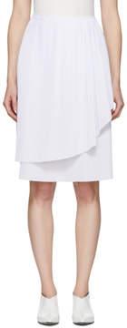 Cédric Charlier White Layered Ruffle Skirt