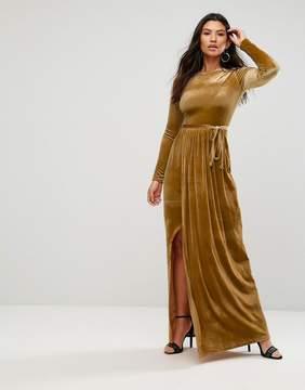Club L Tie Front Wrap Detail Maxi Dress