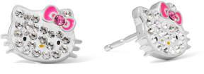 Hello Kitty Sterling Silver Crystal Stud Earrings
