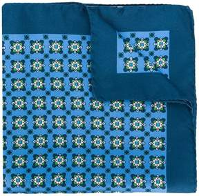 Kiton geometric print handkerchief