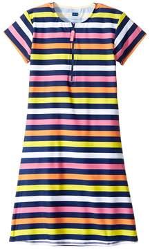 Toobydoo Santa Monica Stripe Rashguard Dress (Infant/Toddler/Little Kids/Big Kids)