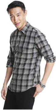 Joe Fresh Men's Check Shirt, Steel (Size XXL)
