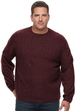 Dockers Classic-Fit Cable-Knit Easy-Care Crewneck Sweater