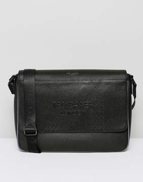 Ted Baker Embossed Messenger Bag in Black