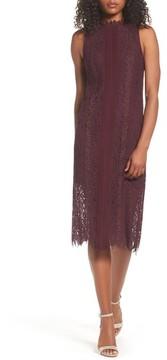 Chelsea28 Women's Lace Pleated Midi Dress