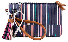 Nautica Power Sailing Wristlet with Battery Charger - Ribbon Stripe