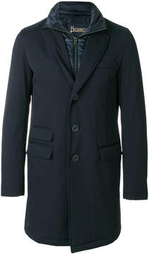 Herno padded single-breasted coat
