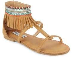 Steve Madden Girl's Gardina Fringed Leather Sandals
