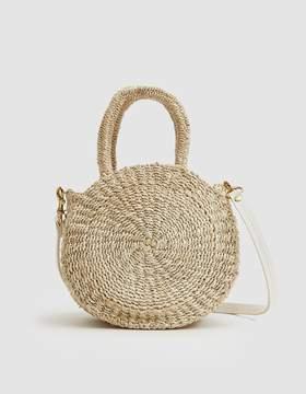 Clare Vivier Woven Petite Alice Bag in Cream