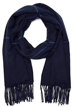 Vince Camuto Windowpane-check Scarf