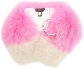 Fendi F-buckle fur scarf