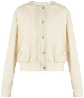 Christopher Kane Pansy-print satin bomber jacket