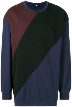 Yang Li colour-block fitted sweater