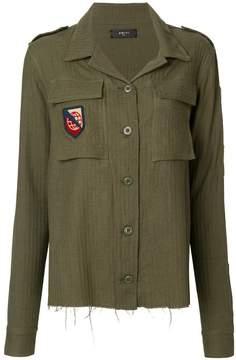 Amiri patch-appliqué military shirt