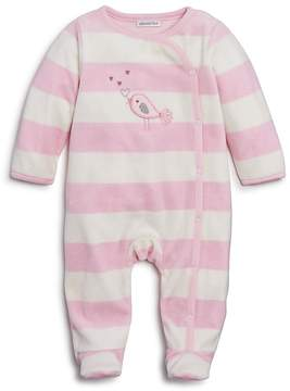 Absorba Girls' Striped Bird Velour Footie - Baby