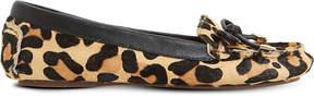 Dune Genovia leopard-print loafers