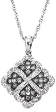 Armani Exchange Jewelry Diamond Pattern Necklace in Sterling Silver (0.33 cts, H-I I2 and Grey Diamonds)