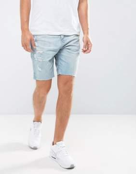 Hollister Denim Shorts Destroyed Bleach Wash