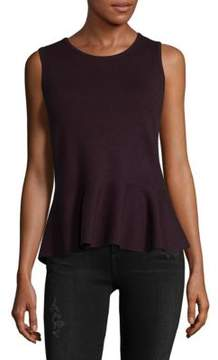 Saks Fifth Avenue BLACK Sleeveless Peplum Top