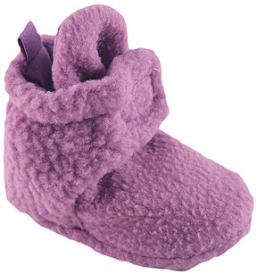 Luvable Friends Lilac Fleece Booties - Girls