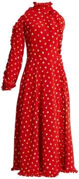 DAY Birger et Mikkelsen ANNA OCTOBER One-shoulder cut-out polka-dot crepe dress
