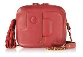 Jerome Dreyfuss Women's Red Leather Shoulder Bag.