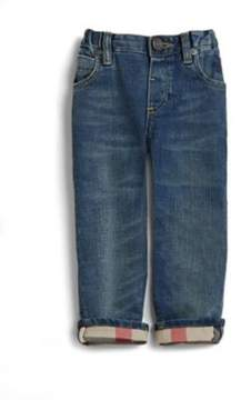 Burberry Toddler's Check-Lined Jeans