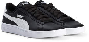 Puma Black and White Smash V2 Junior Trainers