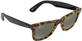 Ray-Ban Open Box Original Wayfarer Green Classic G-15 Square Sunglasses RB2140 1196