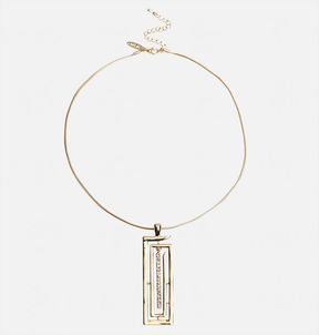 Avenue Short Rectangle Pendant Necklace