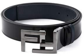 Fendi Men's Blue/black Leather Belt.