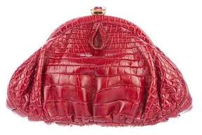 Judith Leiber Alligator Frame Evening Bag