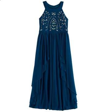 My Michelle Girls 7-16 Jewel Bodice Maxi Dress