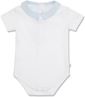 Marie Chantal Baby Boy Check Collar Bodysuit